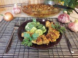 Куриное филе, запечённое с чесноком и тимьяном