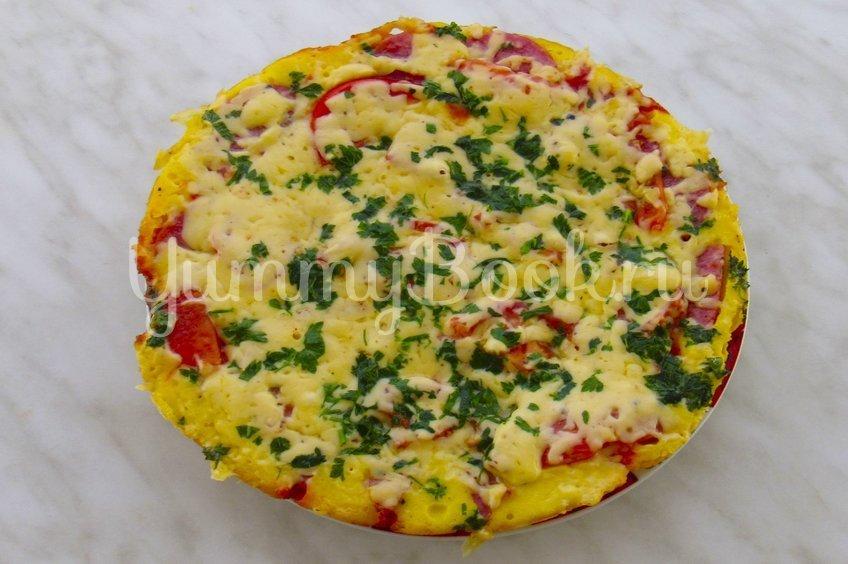Ленивая пицца на сковороде за 10 минут