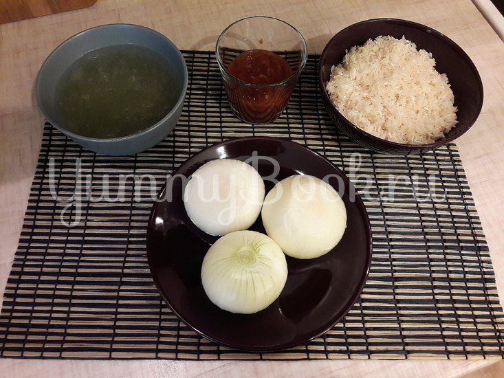 Рис в сковороде - шаг 1