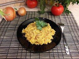 Вкусный рис в сковороде