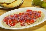 Салат с помидорами и тхиной