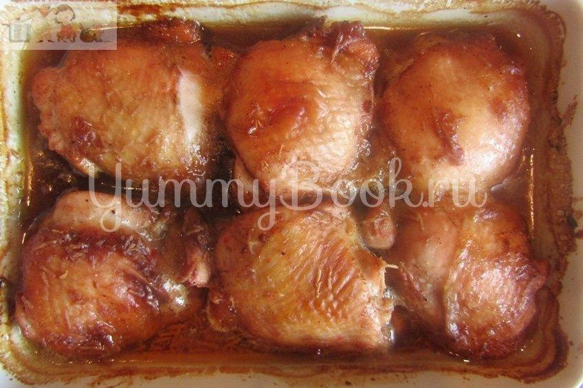Куриные бёдра под медовым соусом в духовке