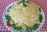 Cалат «Марго» с курицей и маринованными грибами