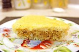Воздушная запеканка с рисом, фаршем и яйцом