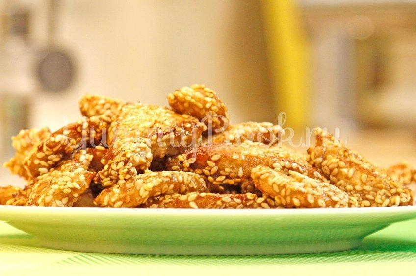 Куриное филе, обжаренное в кунжуте