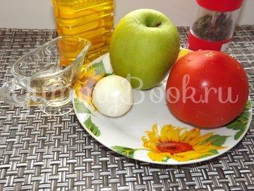 Летний салат с помидорами и яблоком - шаг 1