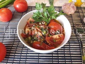 Тушёные помидоры с чесноком и зеленью - шаг 10