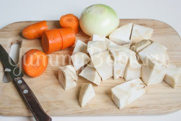 Чорба - румынский суп - шаг 1