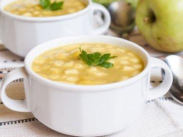 Кабачковый суп-пюре с яблоком