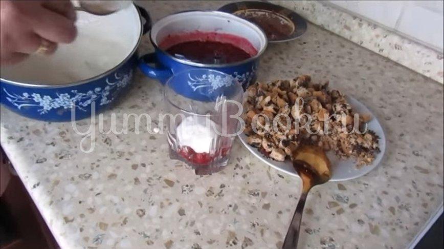 Творожно-шоколадный десерт с малиной - шаг 4