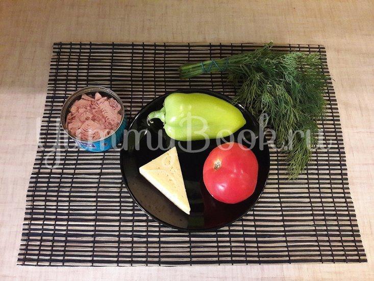 Салат с тунцом и сыром - шаг 1