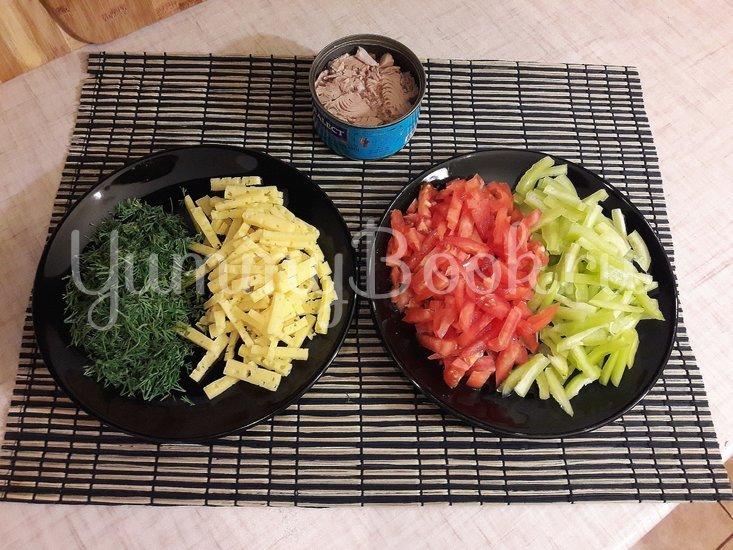 Салат с тунцом и сыром - шаг 2