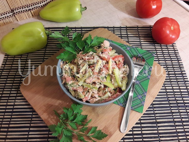 Салат с тунцом и сыром - шаг 4
