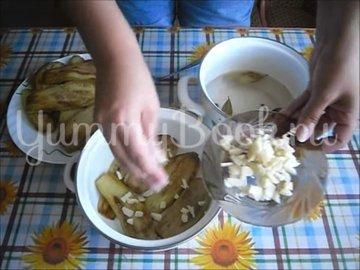 Холодная закуска «Маринованные баклажаны»  - шаг 3