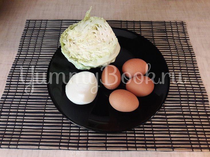 Капустный салат с яйцами и луком - шаг 1