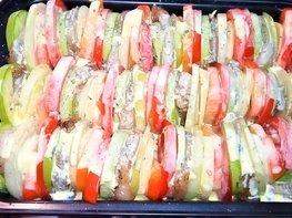 Запеканка овощная с куриным филе и в яично-сметанной заливке