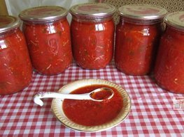 Томатный соус с болгарским перцем на зиму