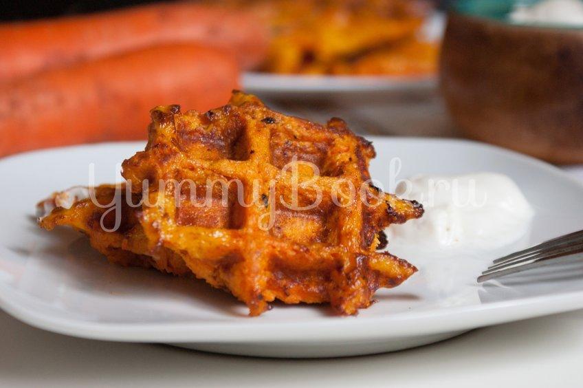 Морковные вафли