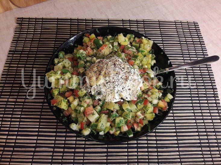 Картофельный салат со свежими овощами - шаг 3