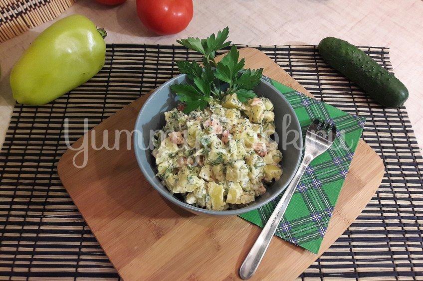 Картофельный салат со свежими овощами