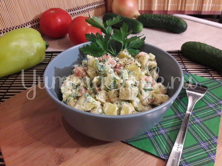 Картофельный салат со свежими овощами - шаг 5