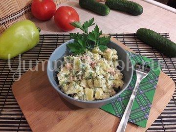 Картофельный салат со свежими овощами - шаг 4