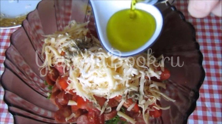 Салат с сыром и охотничьими колбасками - шаг 3