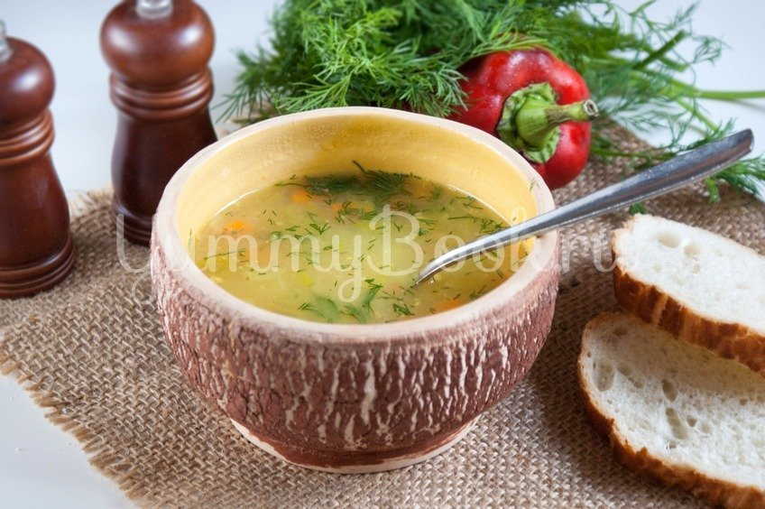 Постный суп с овсяными хлопьями