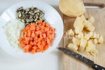 Постный суп с овсяными хлопьями - шаг 1