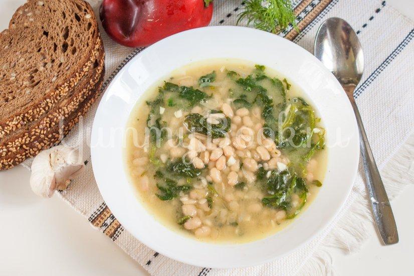 Фасолевый суп со шпинатом - шаг 5