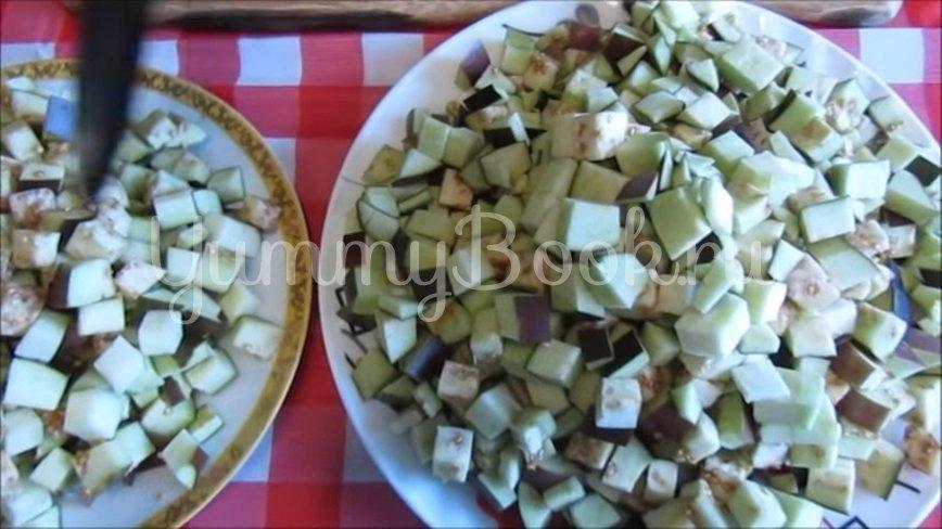 Закуска из баклажанов с чесноком и зеленью - шаг 2