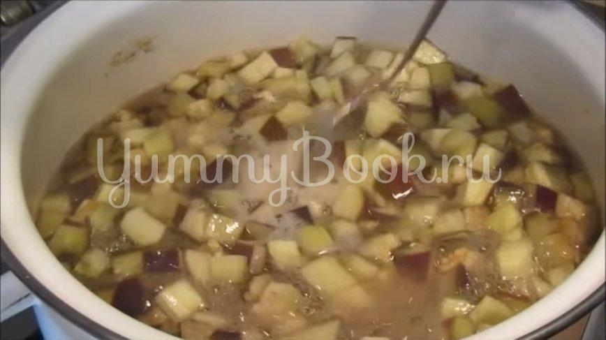 Закуска из баклажанов с чесноком и зеленью - шаг 4