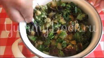 Закуска из баклажанов с чесноком и зеленью - шаг 5