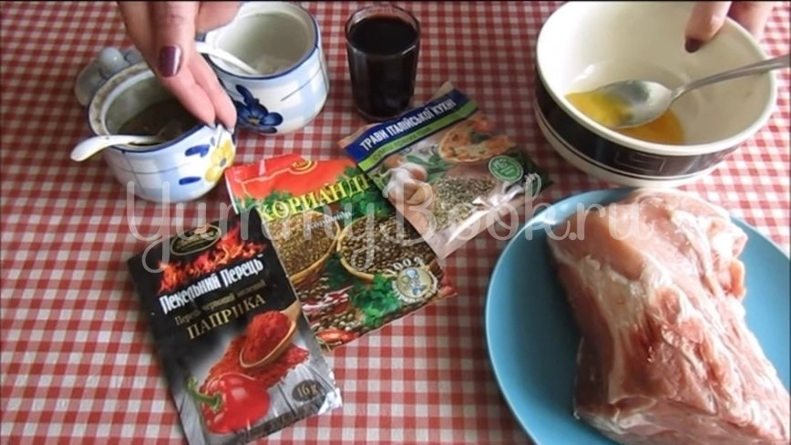Свиной ошеек в пряном маринаде  - шаг 1