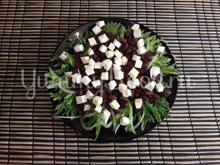 Салат с фасолью и фетой - шаг 4