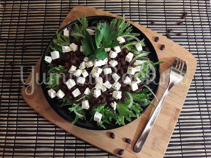 Салат с фасолью и фетой - шаг 5