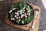 Салат с фасолью и фетой