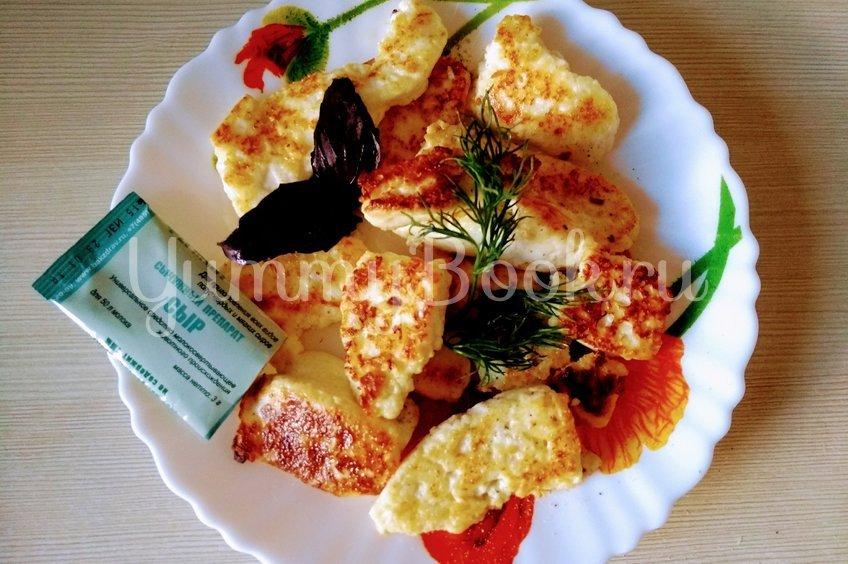 """Сыр """"Адыгейский"""", жаренный с чесноком"""