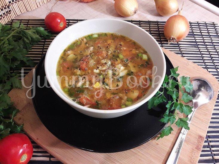 Гороховый суп с двумя видами мяса и помидорами - шаг 13