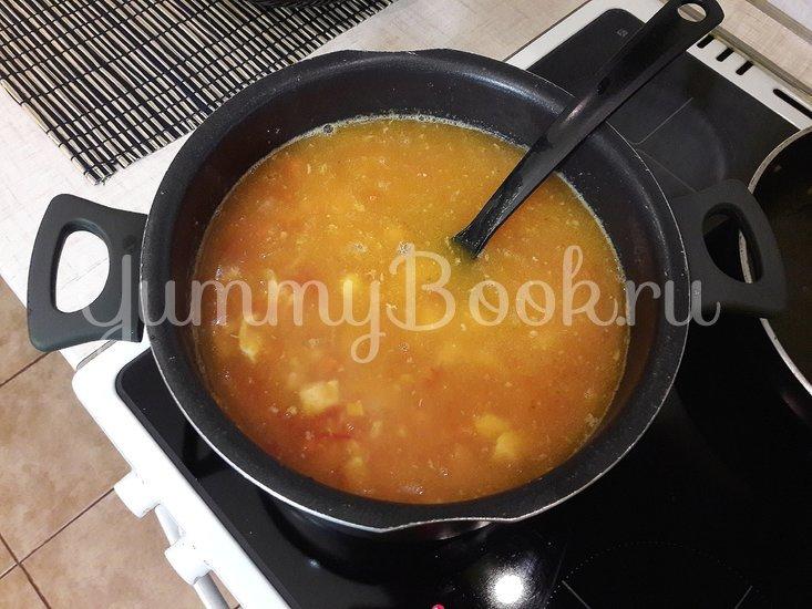 Гороховый суп с двумя видами мяса и помидорами - шаг 8