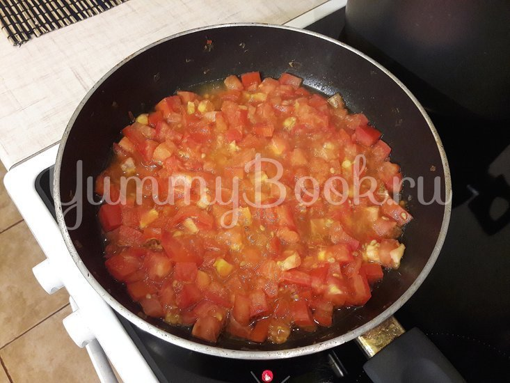 Гороховый суп с двумя видами мяса и помидорами - шаг 9