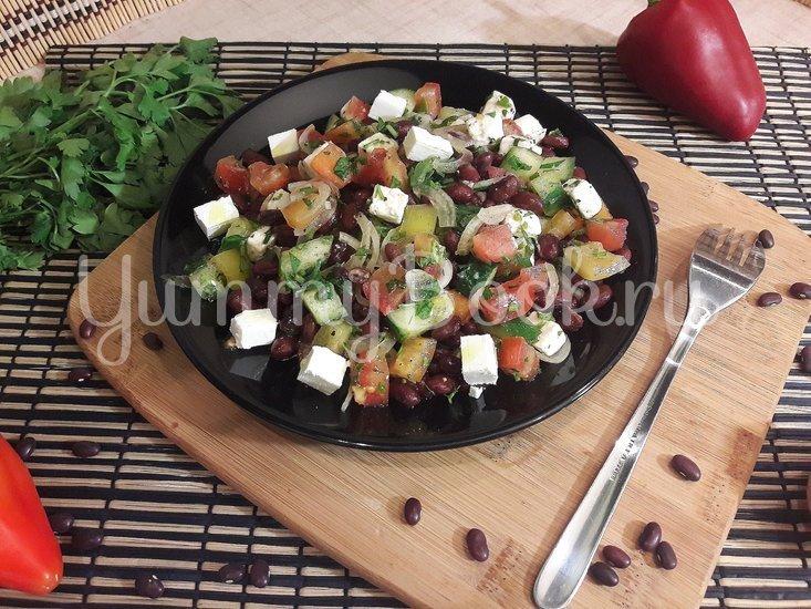 Салат со свежими овощами, фасолью и фетой - шаг 3