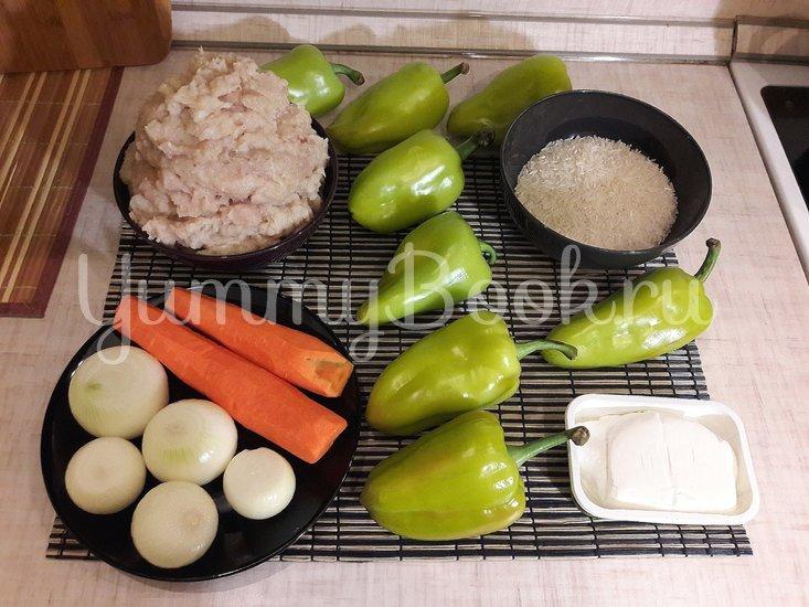 Болгарские перцы, фаршированные начинкой с фетой - шаг 1