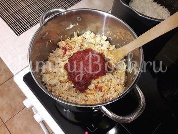 Болгарские перцы, фаршированные начинкой с фетой - шаг 6