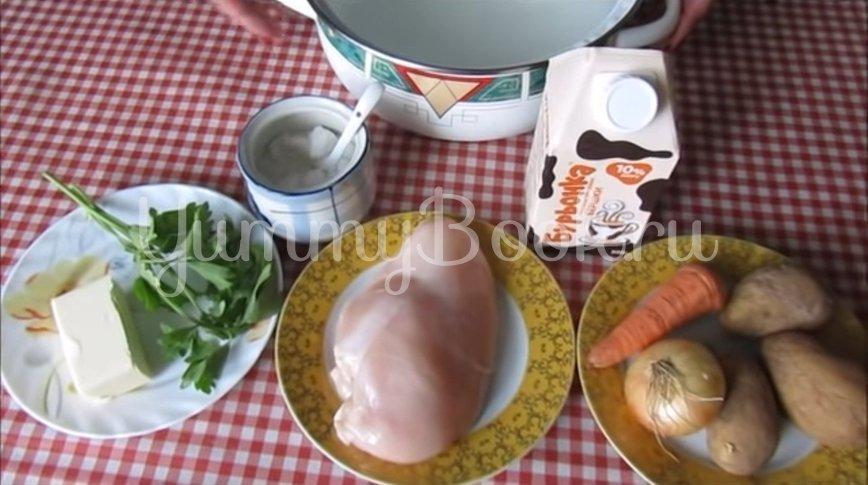 Сливочный суп с курицей - шаг 1