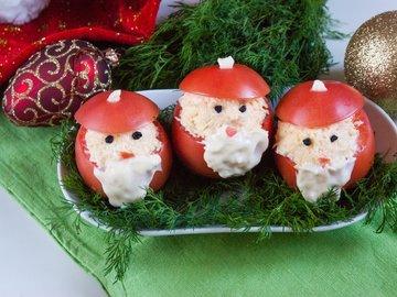 """Новогодняя закуска """"Дед Мороз"""""""