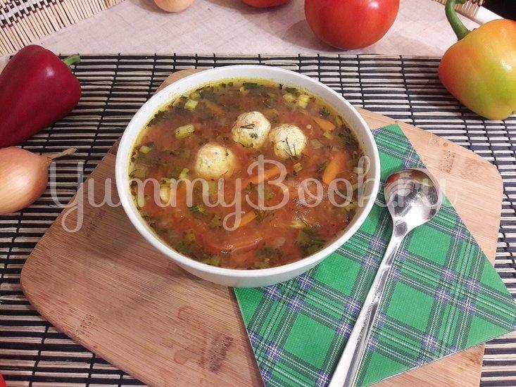 """""""Тройной"""" томатный суп с куриными фрикадельками - шаг 15"""