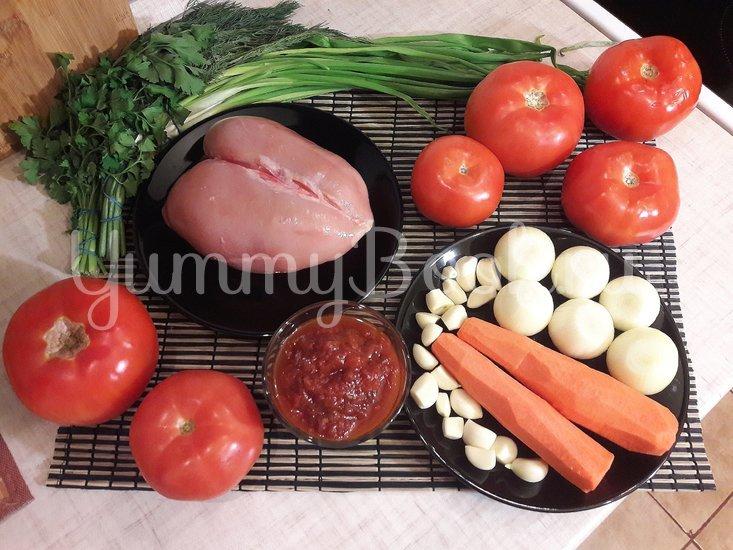 """""""Тройной"""" томатный суп с куриными фрикадельками - шаг 1"""