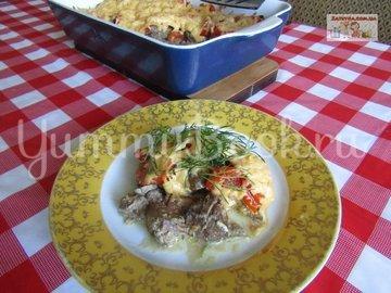 Куриная печень с помидорами и сыром - шаг 6