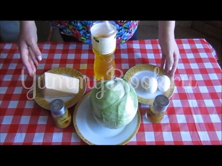 Запечённая капуста «Нежная» с яйцами и сыром - шаг 1